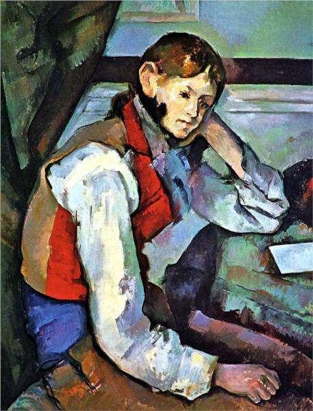 Obraz Cezanne'a - Chłopiec w czerwonej kamizelce