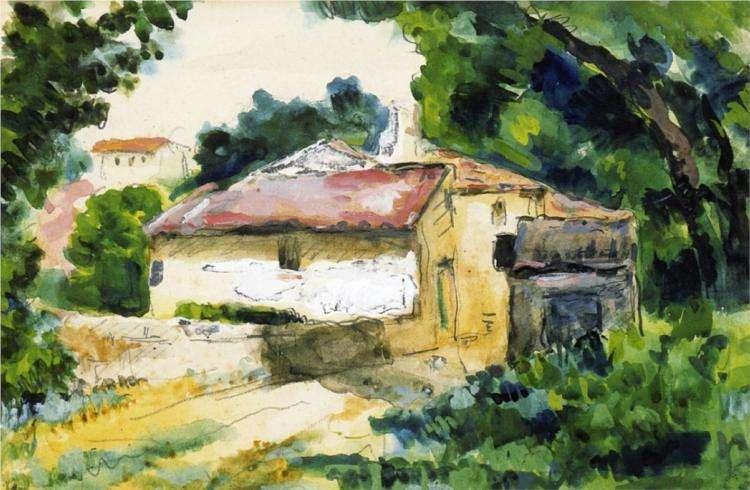 Obraz Cezanne'a - Dom w Prowansji