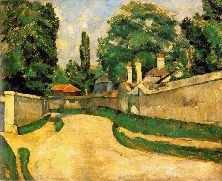 Obraz Cezanne'a - Domy wzdłuż drogi