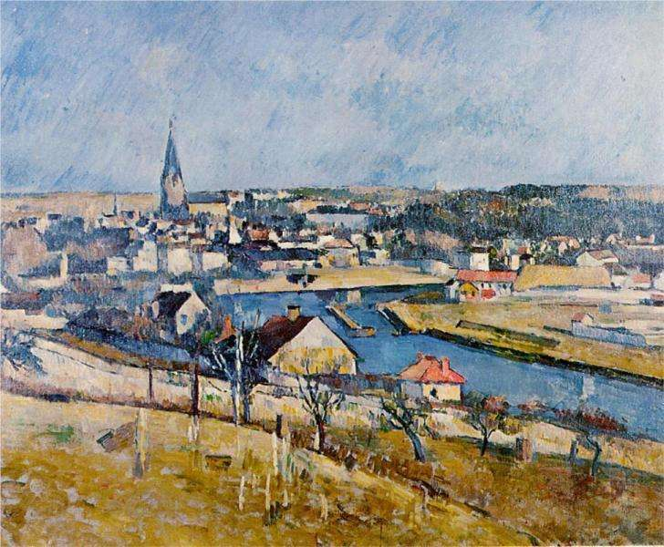 Krajobraz Ile de France - Cezanne