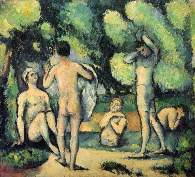 Obraz Cezanne'a - Kąpiący się