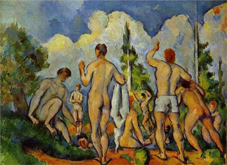 Dzieło Cezanne'a - Kąpiący się - 1894