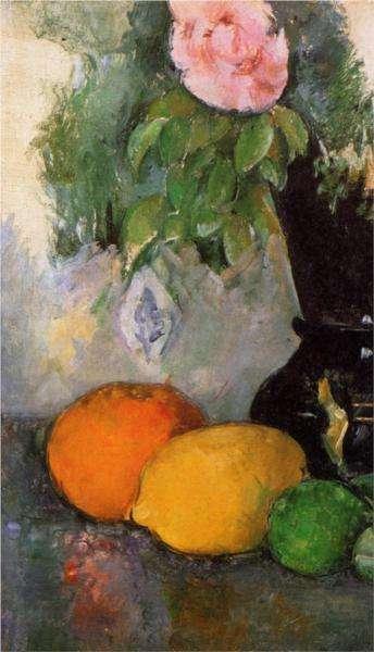 Obraz Cezanne'a - Kwiaty i owoce