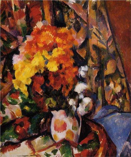 Obraz Cezanne'a - Chryzantemy
