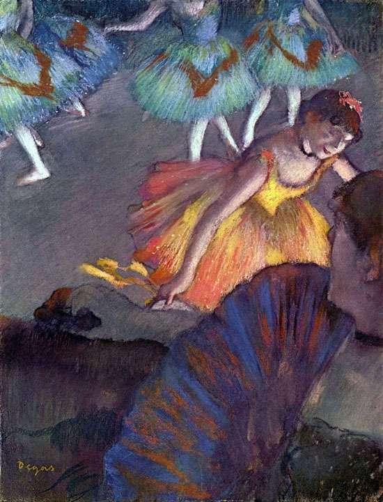 Obraz Degasa - Balet - widok z loży