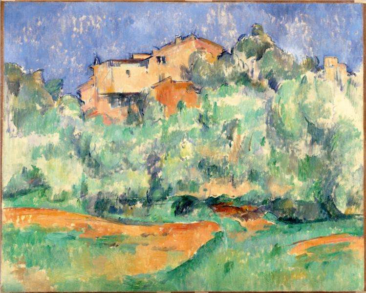 Pejzaż Cezanne'a - Farma Bellevue