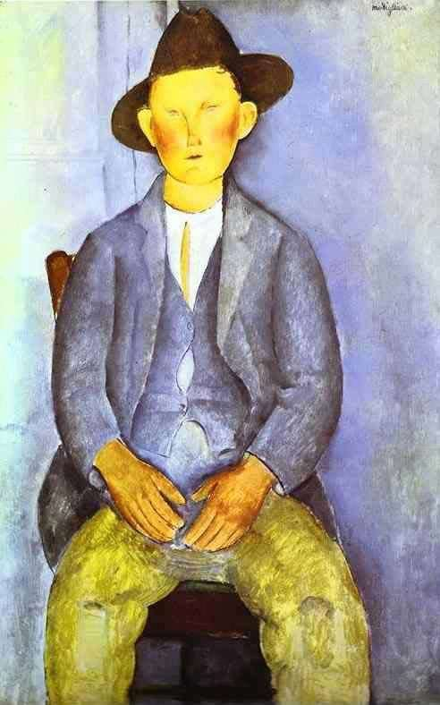 Obraz Modiglianiego - Mały wieśniak