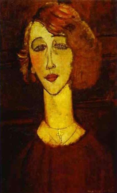 Obraz Modiglianiego - Renee blondynka
