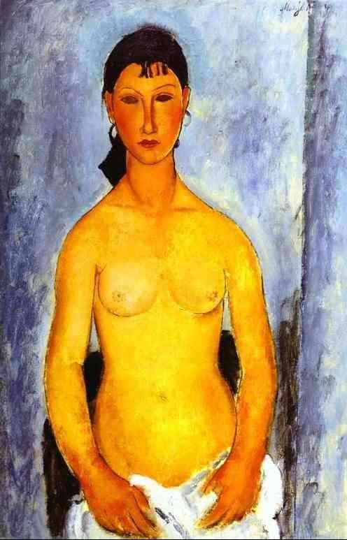Obraz olejny - Standing nude - Elvira - 1918.