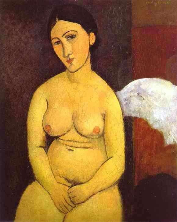 Obraz Modiglianiego - Akt siedzący