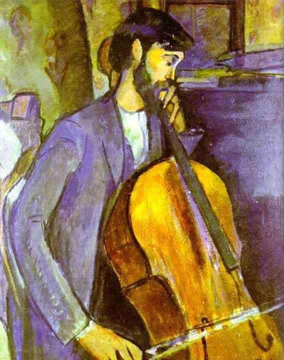 Obraz Modigliani - studium wiolonczelisty