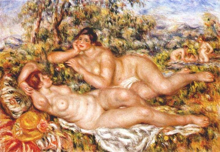 Obraz Renoira - Wielkie kąpiące się. Nimfy /The Great Bathers